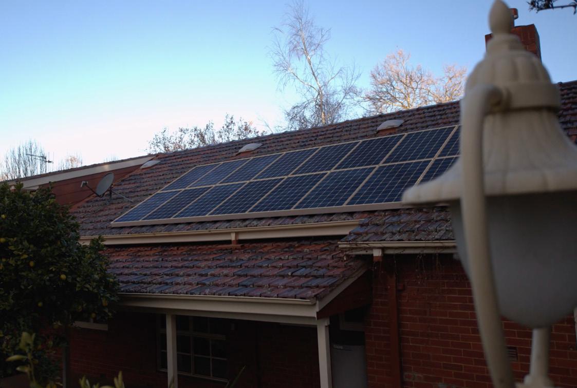 CGI 3D solar panels on Australian roof